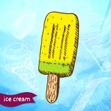 Doodle ice cream frozen dessert style sketch Royalty Free Stock Photography