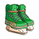 Doodle ice skates Stock Photography