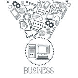 Doodle icon design. business icon. draw concept Royalty Free Stock Photo