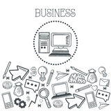 Doodle icon design. business icon. draw concept Stock Image