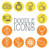 Doodle icon design. cartoon icon. draw concept stock illustration
