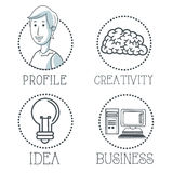 Doodle icon design. cartoon icon. draw concept Royalty Free Stock Photos