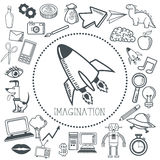 Doodle icon design. imagination icon. draw concept Stock Images