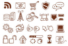 Doodle icon set Stock Photos