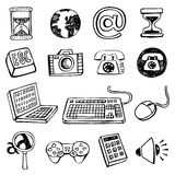 Doodle icon set. Royalty Free Stock Image