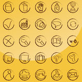 Doodle icon set - web & internet. Vector set: calligraphic design elements and page decoration - lots of useful elements to embellish your layout Stock Photography