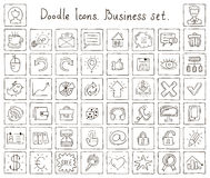 Doodle icons. Business set Royalty Free Stock Photography