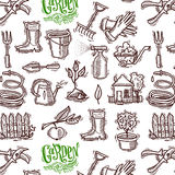 Doodle icons garden Stock Photography