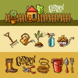 Doodle icons garden Royalty Free Stock Photography