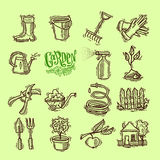 Doodle icons garden Royalty Free Stock Photo