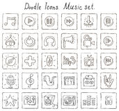 Doodle icons. Music set Royalty Free Stock Images