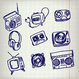 Doodle Icons Stock Photos