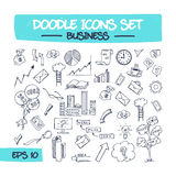 Doodle Icons Set - Business. Stock Photography
