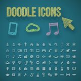 Doodle icons Royalty Free Stock Image