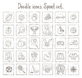 Doodle icons. Sport set Royalty Free Stock Image