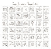 Doodle icons. Travel set Stock Image