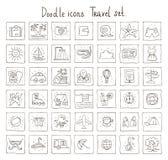 Doodle icons. Travel set Stock Image
