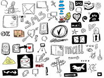 Doodle icons for web Stock Photos
