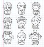 Doodle ikony ludzie Fotografia Stock