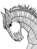 Doodle ilustracja koń Obraz Royalty Free