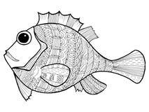 Doodle ilustracja ryba Fotografia Royalty Free