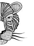 Doodle ilustracja tygrys Zdjęcia Stock