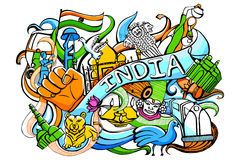 Doodle on India concept Royalty Free Stock Image