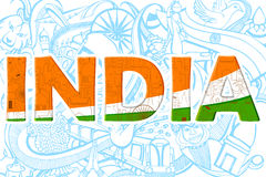 Doodle on India concept Royalty Free Stock Photo