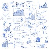 Doodle infographic design elements Stock Image