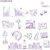 Doodle infographic design elements isolated vector Royalty Free Stock Image