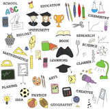 doodle infographics education elements Royalty Free Stock Images