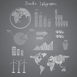 Doodle  infographics elements  vector Royalty Free Stock Photos