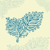 Doodle ink leaf pattern Stock Photo