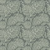 Doodle ink seamless leaf pattern Stock Photo