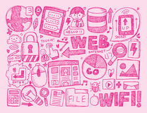 Doodle internet background Royalty Free Stock Photos