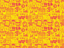 Doodle internet seamless pattern Royalty Free Stock Photos