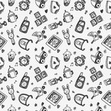 Doodle internet seamless pattern Stock Photography