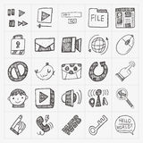 Doodle internet web icon set Stock Photo