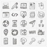 Doodle internet web icon set Royalty Free Stock Photo
