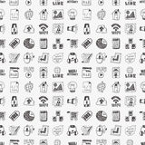 Doodle internet web seamless pattern Stock Photo