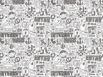 Doodle internet web seamless pattern Stock Images