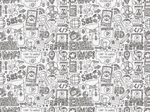 Doodle internet web seamless pattern Stock Image