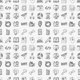 Doodle internet web seamless pattern Royalty Free Stock Photos