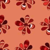 Doodle jaskrawych kwiatów bezszwowy wzór Zdjęcia Royalty Free