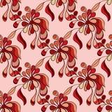 Doodle jaskrawych kwiatów bezszwowy wzór Fotografia Stock