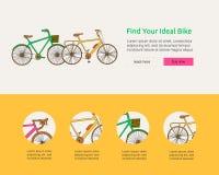 Doodle jechać na rowerze sieć sztandar ilustracja wektor