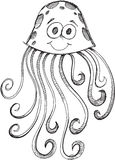 Doodle Jelly Fish Vector Royalty Free Stock Photography