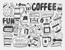 Doodle kawa Zdjęcie Royalty Free