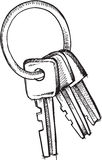 Doodle Keys Vector Royalty Free Stock Photography