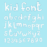 Doodle kid abc typeset Stock Photo